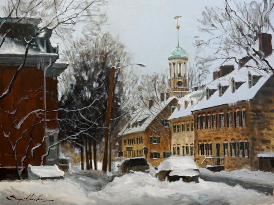 Church street after snow storm