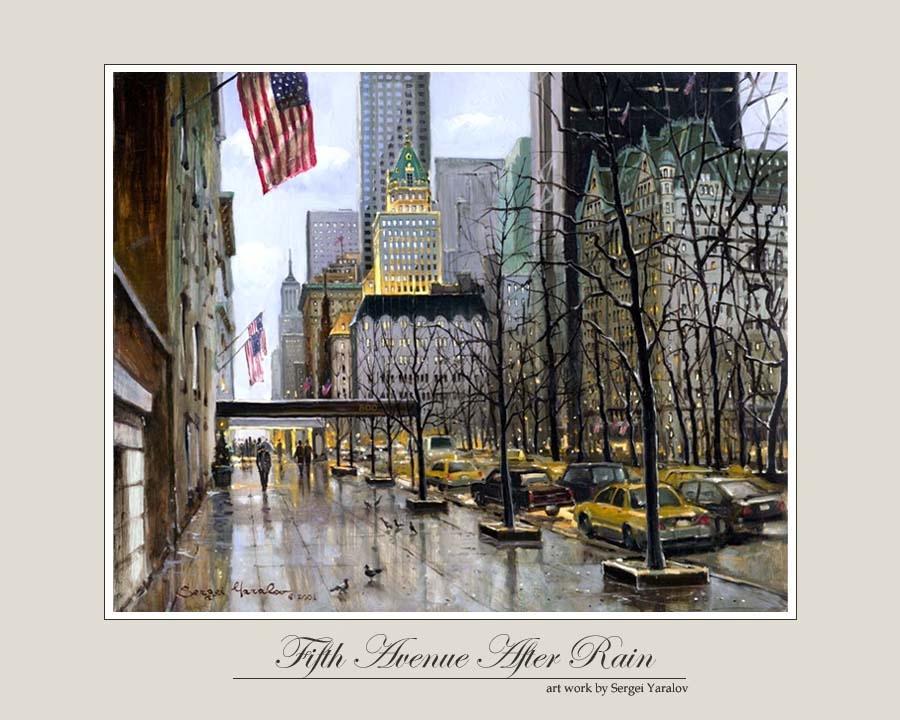 Fifth Avenue After Rain