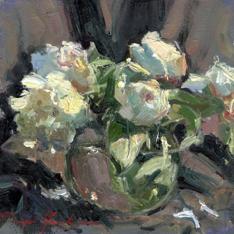 White Peonies in the Vase